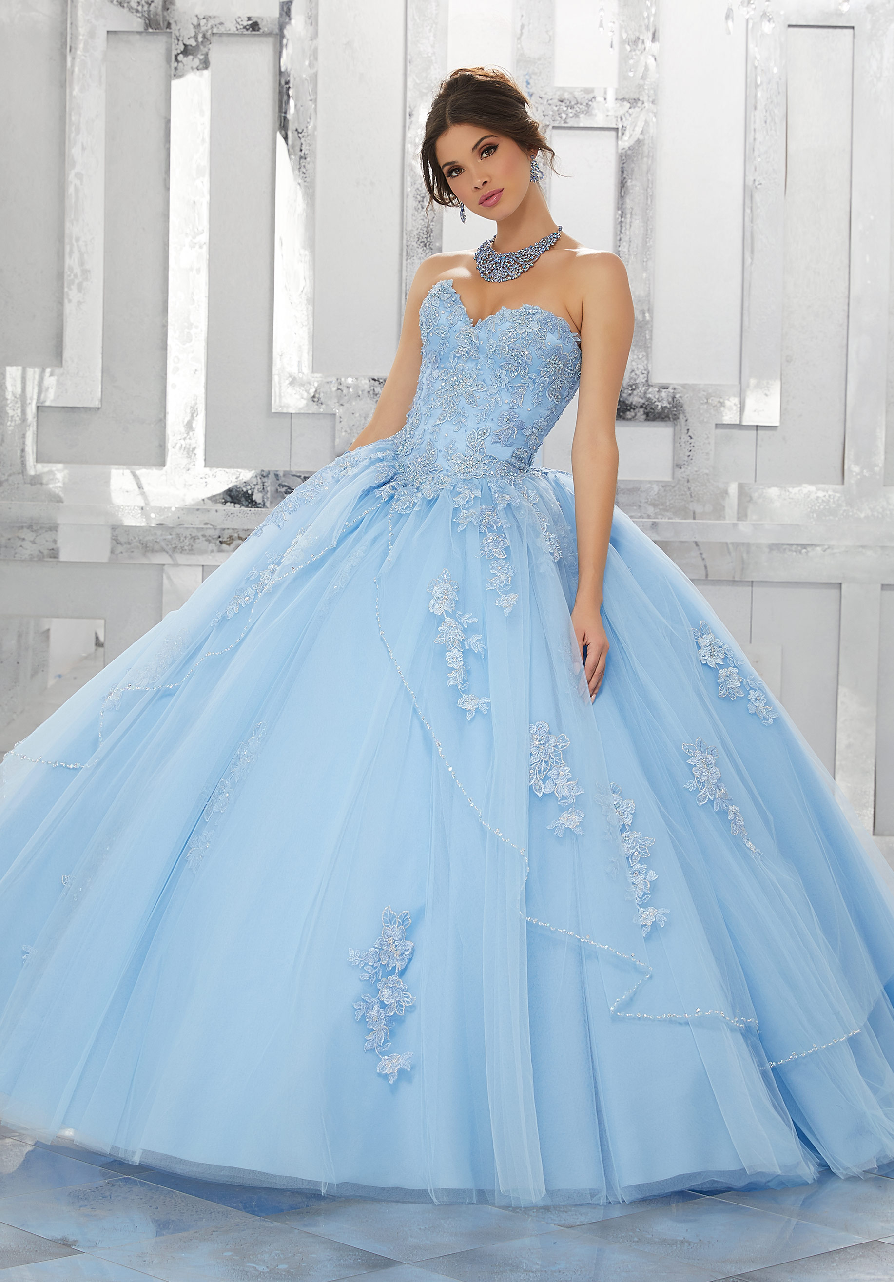 b102f0fa8d5 Home   Quinceanera Dresses   Valencia Collection   Crystal Beaded