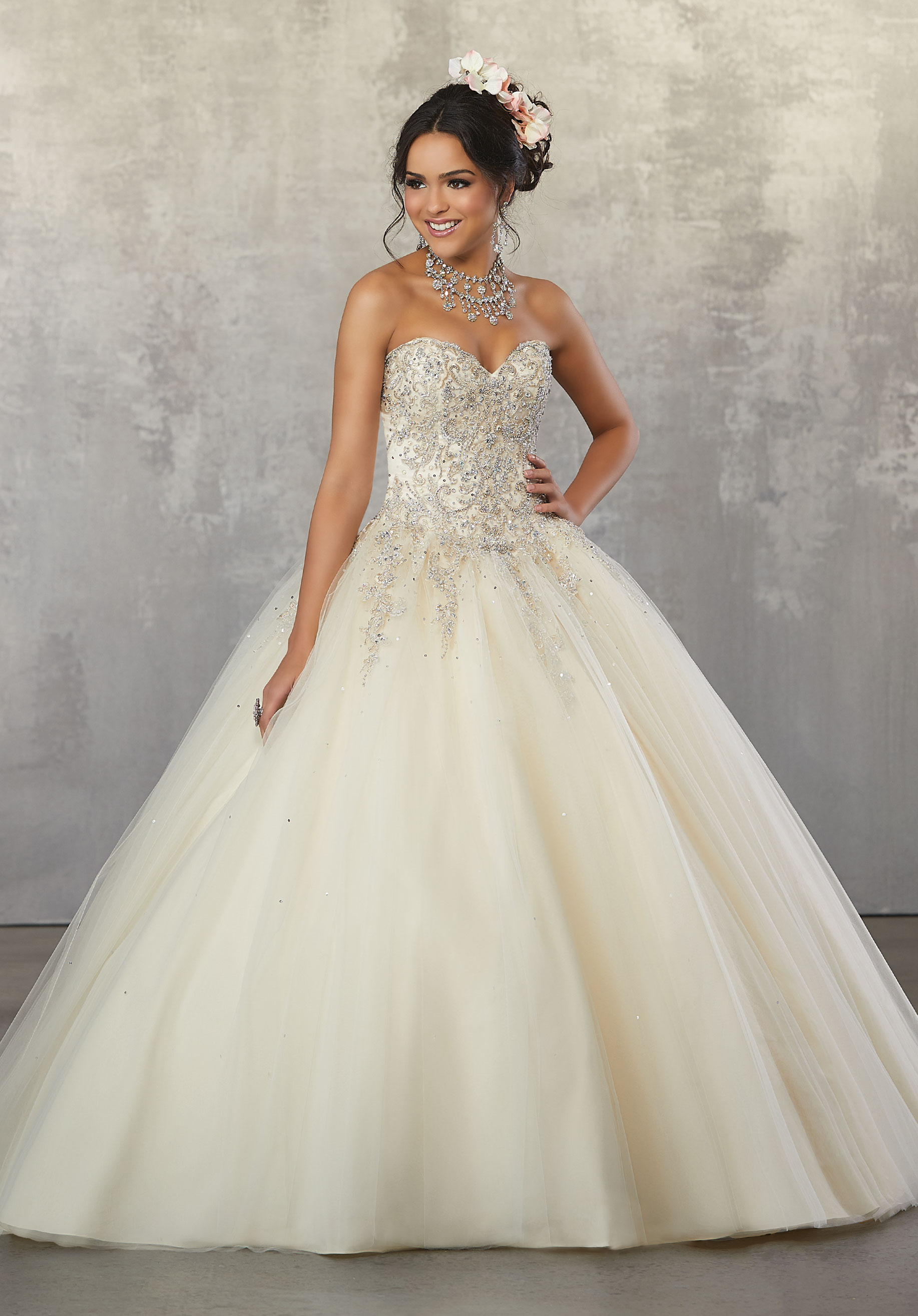 fd66890ed47 Home   Quinceanera Dresses   Valencia Collection   Rhinestone and Crystal  Beaded