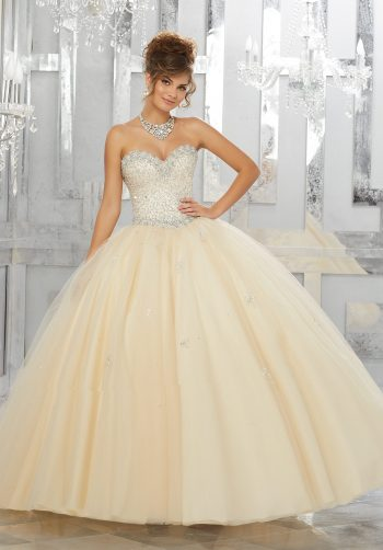 8a85f78e5a6 Allover Beaded Bodice on a Tulle Ball Gown Over Sparkle Tulle. Read more.  vizcaya Quinceanera Dresses Boston