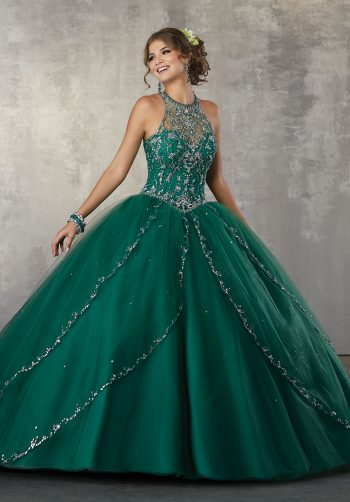 d46d17ccfcb Princess Tulle Ballgown with Beaded Trim and Beaded Bodice