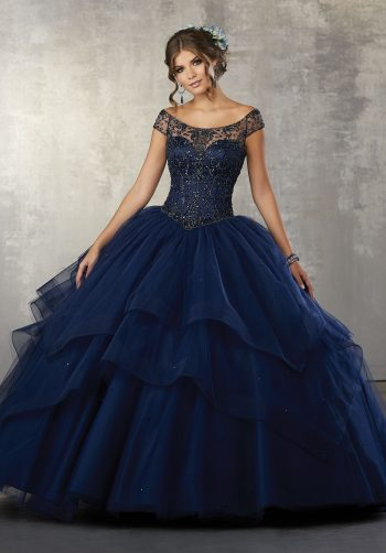a22414e385c Crystal Beaded Bodice on a Flounced Tulle Ballgown. Read more. vizcaya Quinceanera  Dresses Boston